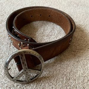 Brighton peace sign belt size 34